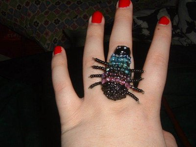 Beaded Spider Ring - view 1