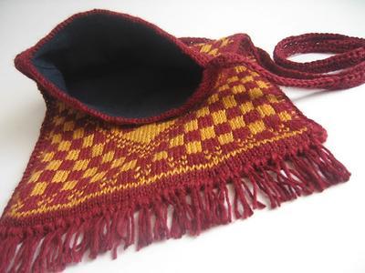 Gryffindor Crest Fair Isle Bag - lining