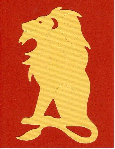 Gryffindor Lion Notecards