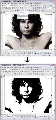 Making a Stencil in Microsoft Word - Fig. 1