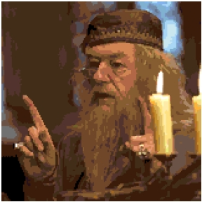 Professor Dumbledore cross-stitch chart