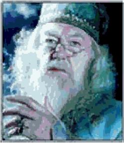 Professor Dumbledore (v2) cross-stitch chart