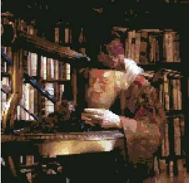 Professor Dumbledore (v3) cross-stitch chart