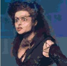 Bellatrix LeStrange cross-stitch chart