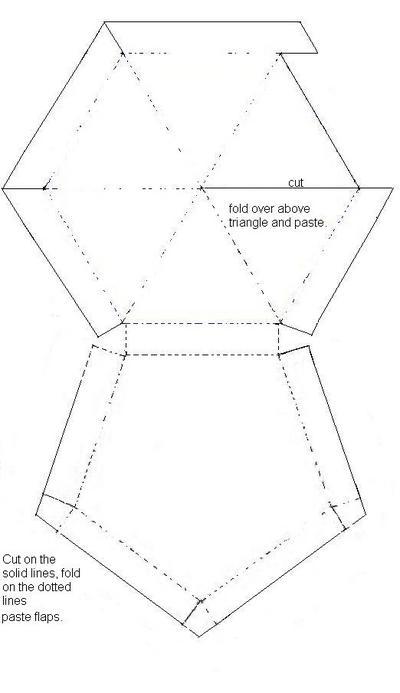 Chocolate Frog Hexagon Box printable template