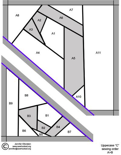 Uppercase C Pattern