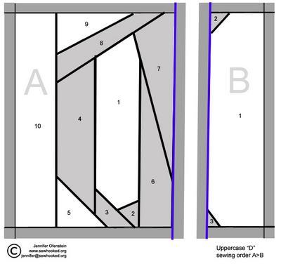 Uppercase D Pattern