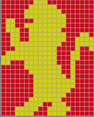 Gryffindor Intarsia Chart