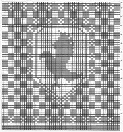 Ravenclaw Fair Isle Crest chart