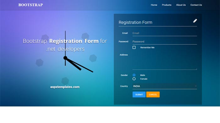 free download aspc website templates Bootstrap – Application Form Template Free Download