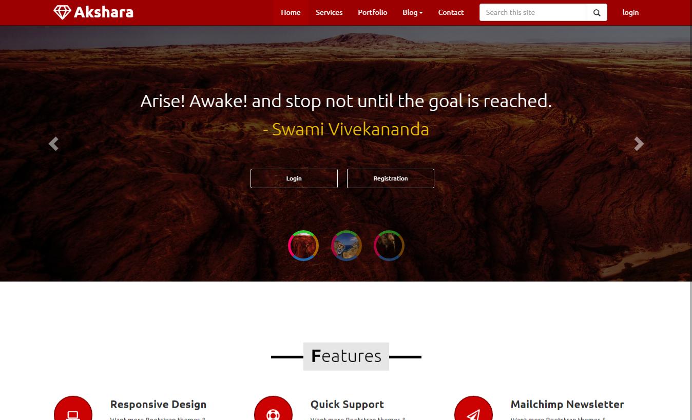 Free download Bootstrap Akshara Multi Master asp templates https ...