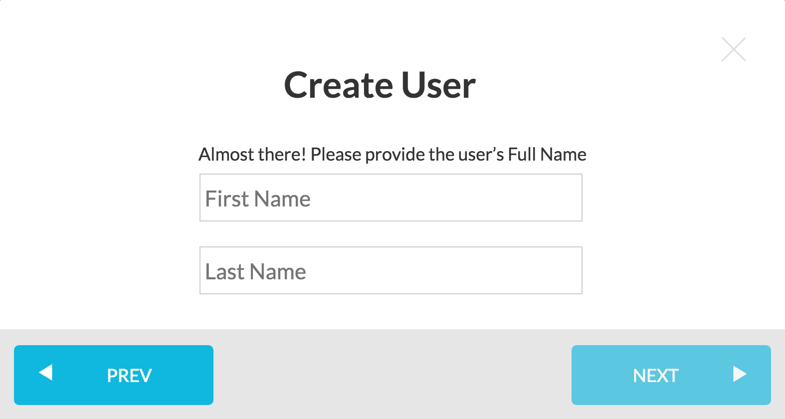 Create New User - Step 3