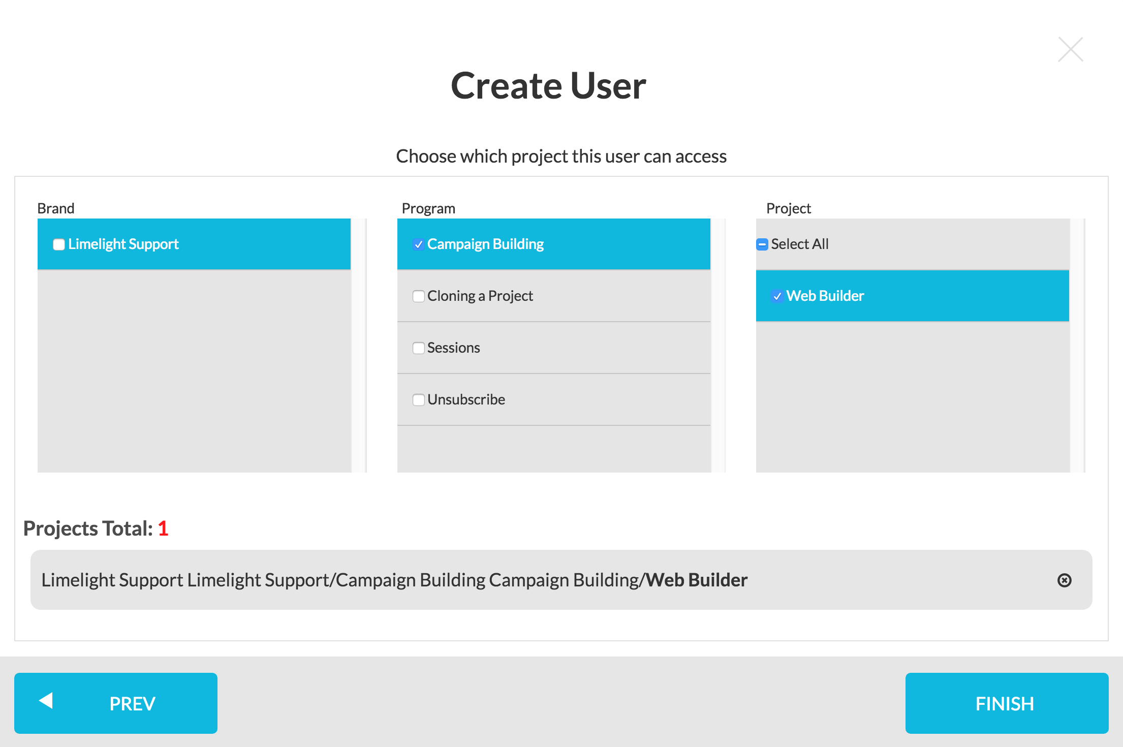 Create New User - Step 6