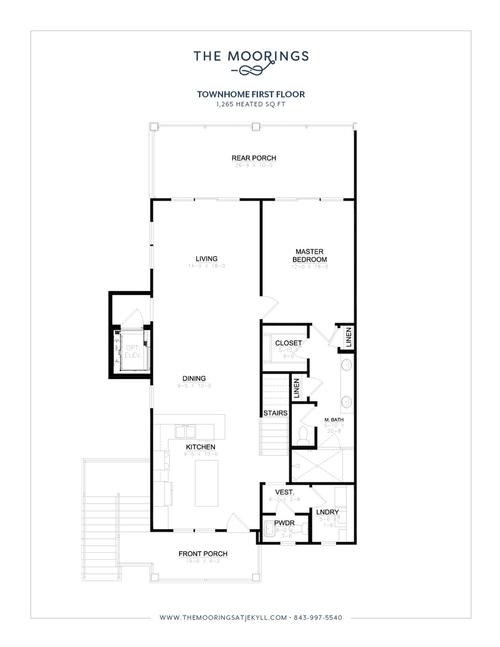 Townhome Floor Plan - First Floor