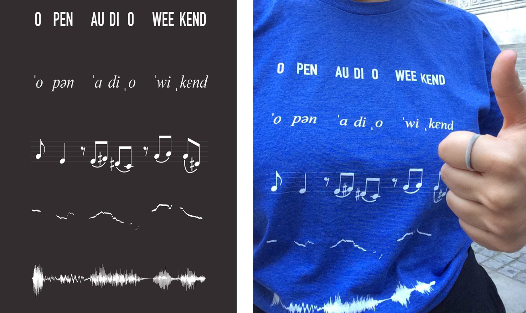 Open Audio Weekend T Shirt Design