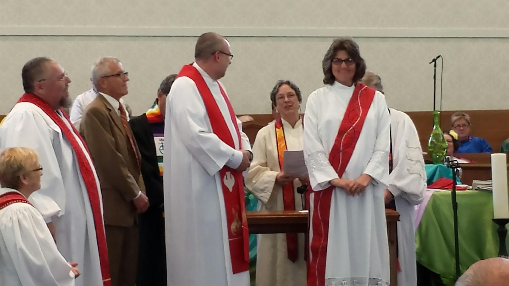 1604 Tina Zimmerman At Her Ordination