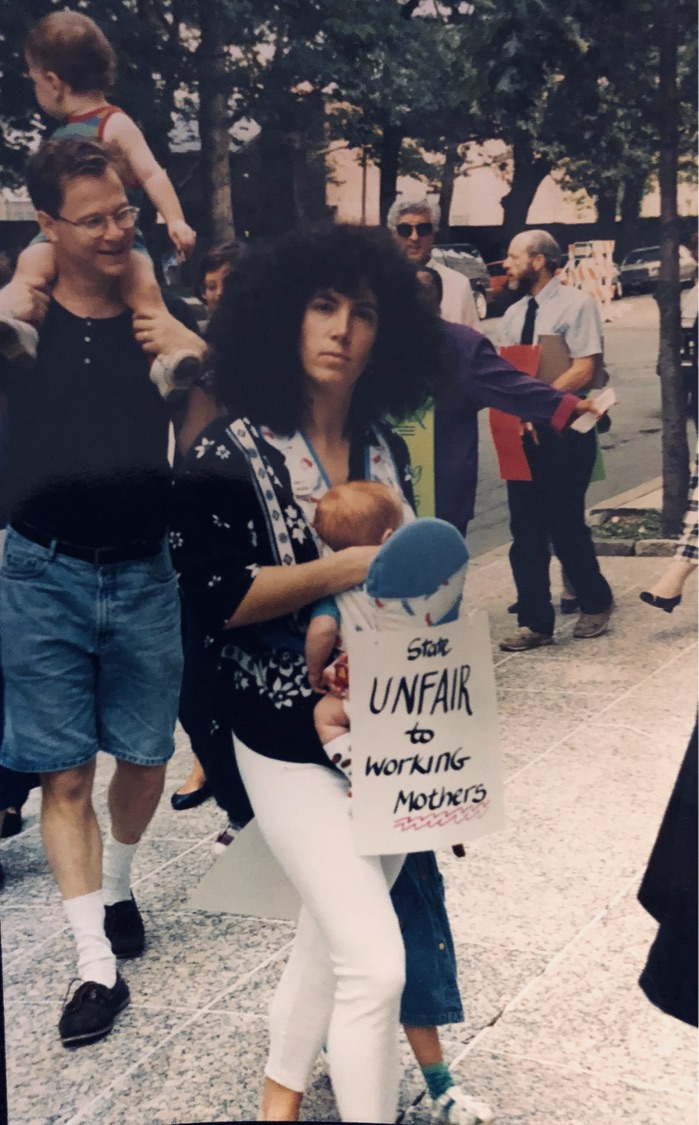 Carla With Her Children Cooper And Montana On A Picket Line 1994 1