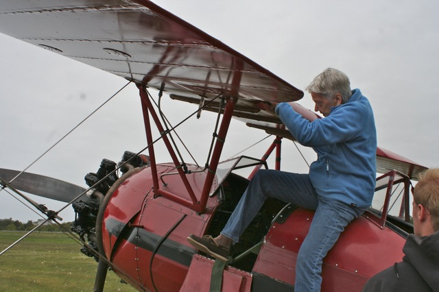 Cynthia Getting Into A Biplane Howies Second Anniversary Gift To Cynthia A Ride Around The Vineyard