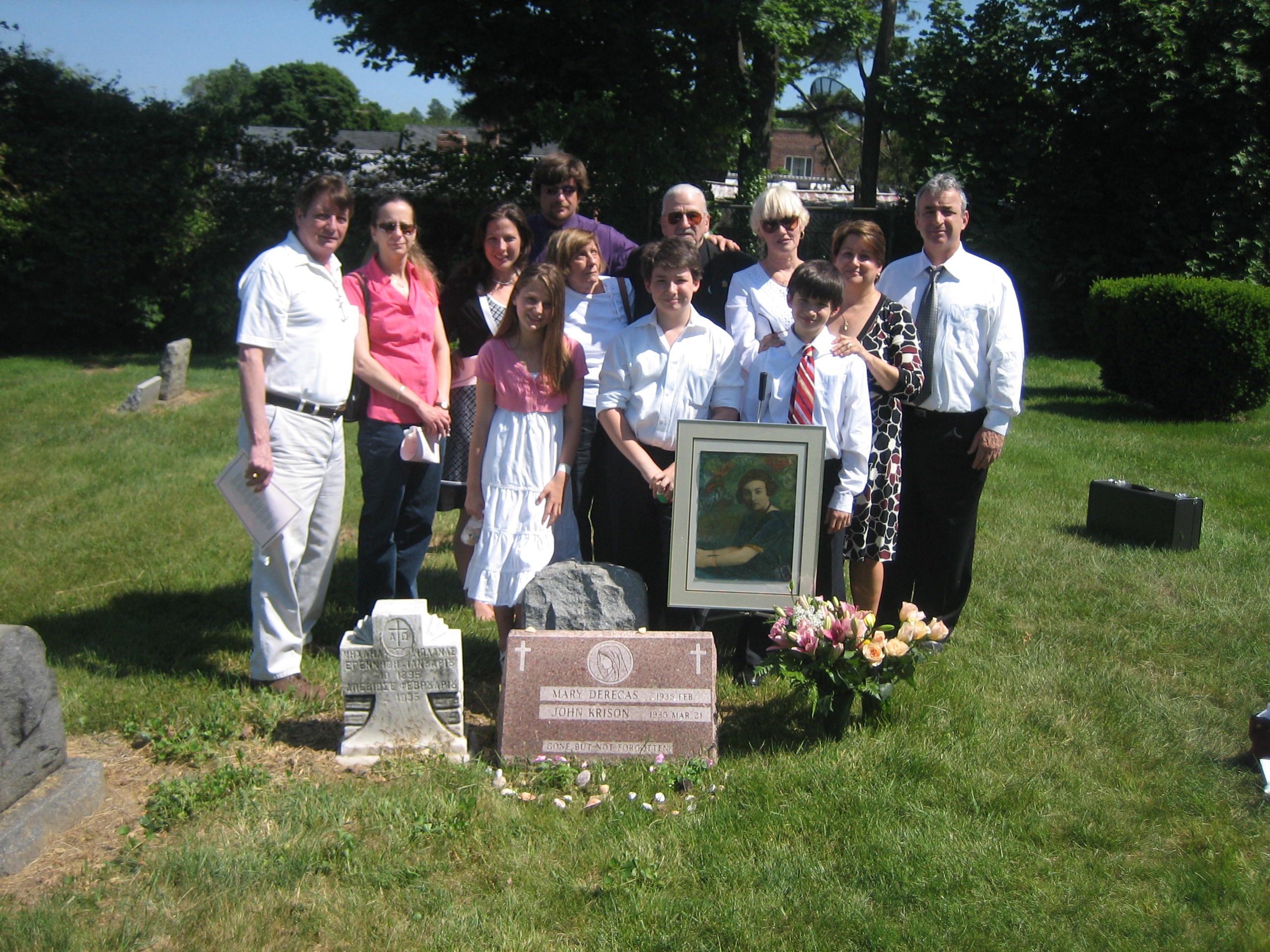Family At Gravesite