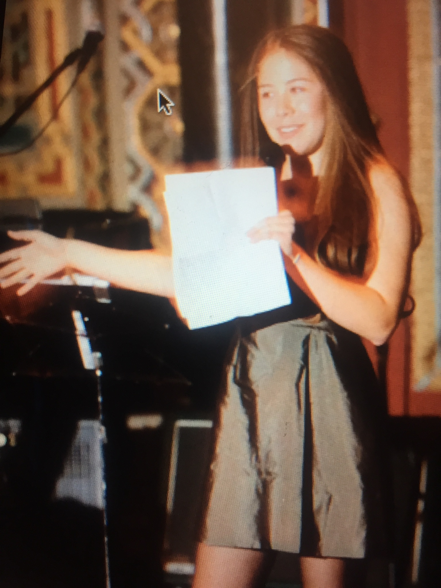Lydia Giving The Speech At Elis Bar Mitzvah