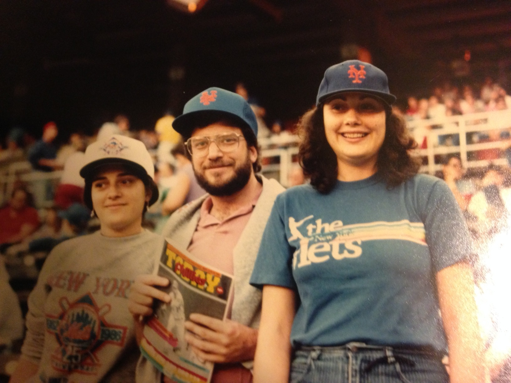 Marie And Her Family At Shea Stadium