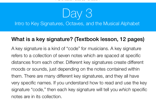 Day 3: Intro To Key Signatures, Octaves, and the Musical Alphabet