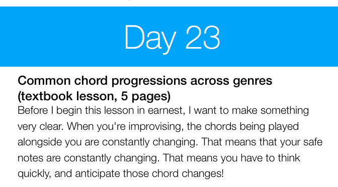 Day 23: Common Chord Progressions Across Genres