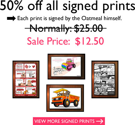 Prints are 50% off