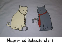 bobcats misprint shirt