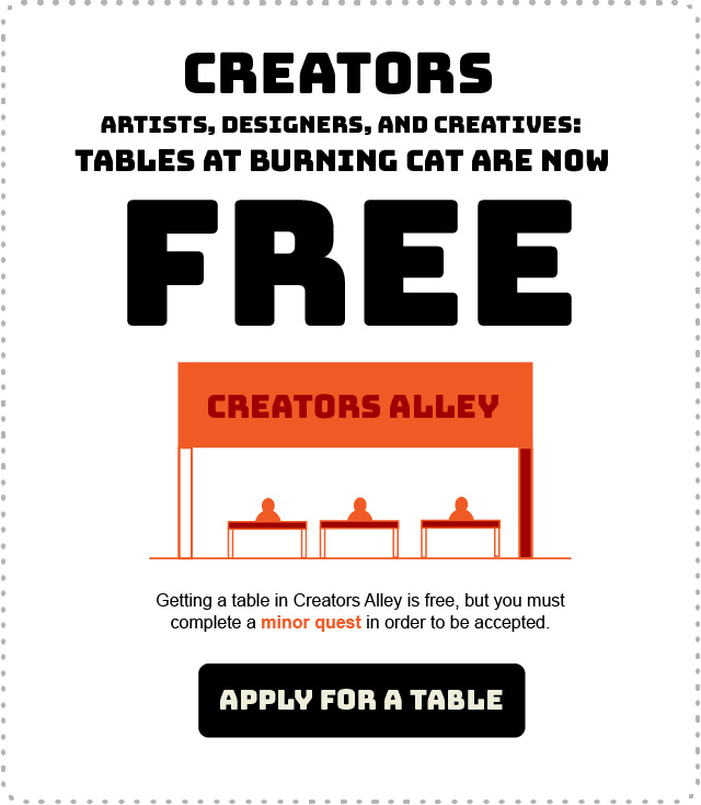 Tables for creators are FREE