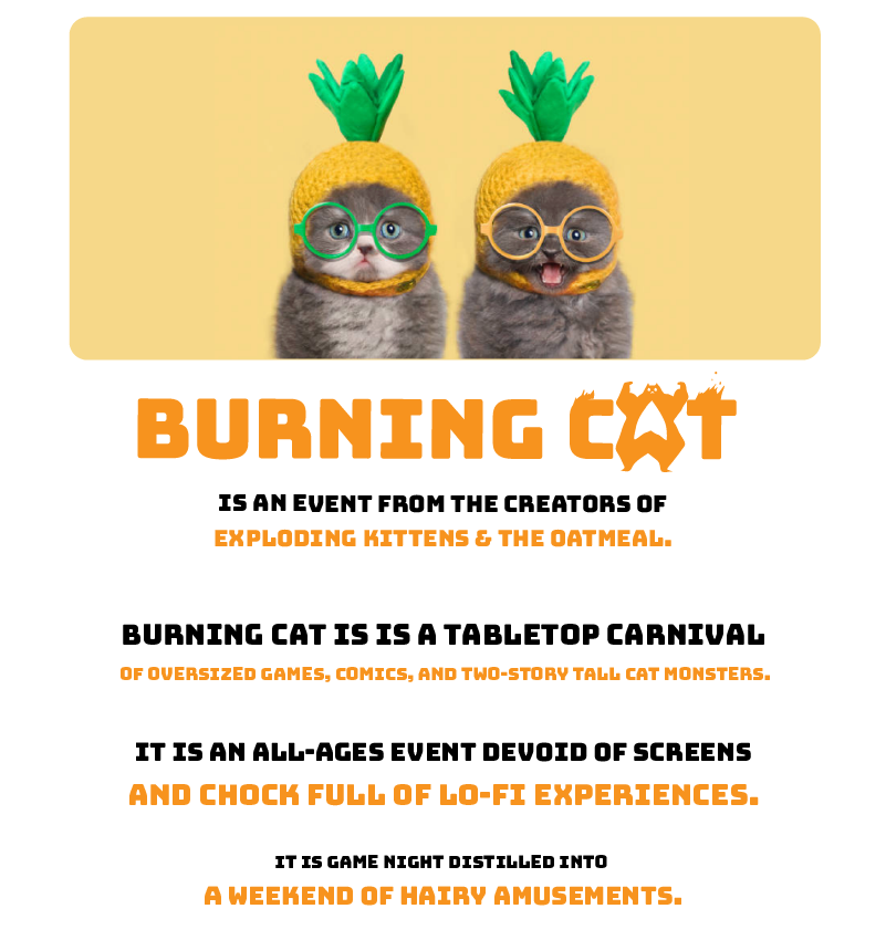 Burning Cat - An event from the creators of Exploding Kittens