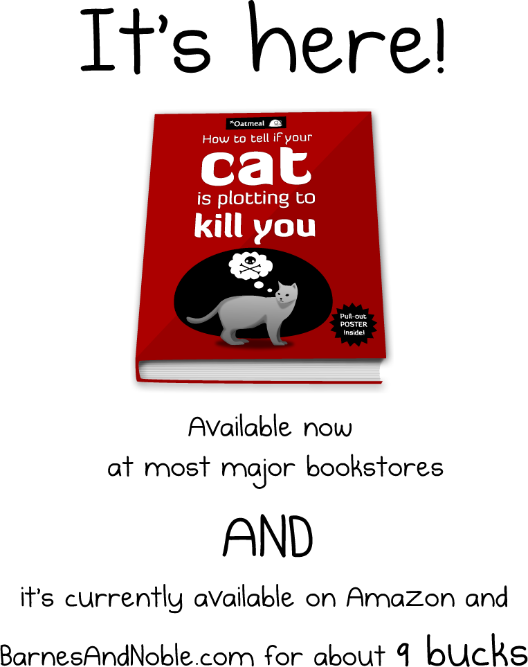 My new book is here - How to tell if your cat is plotting to kill you