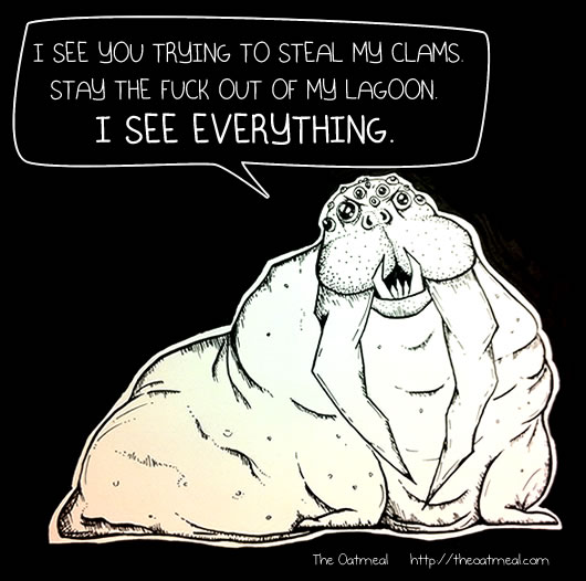 Compound-Eye-Walrus sees everything