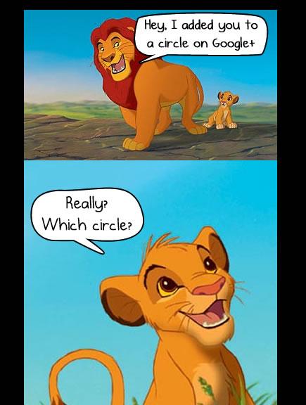 Mufasa and Simba join Google+