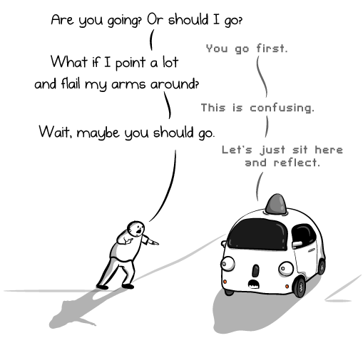 The Oatmeal Self Driving Car