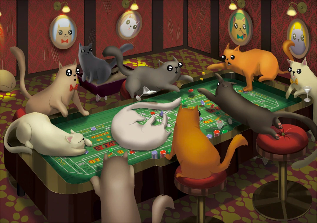 Cats Playing Craps puzzle