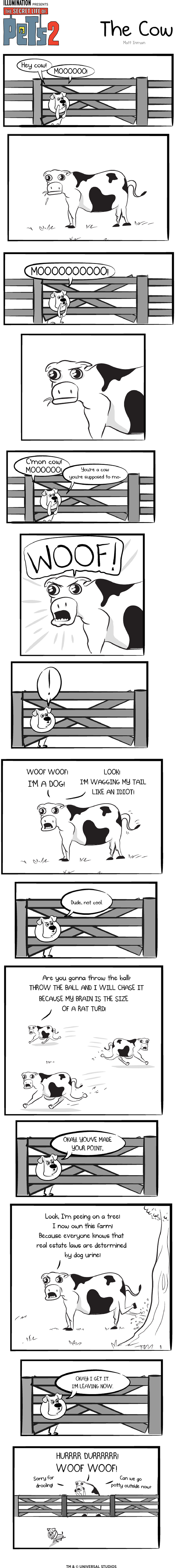 Max versus a cow
