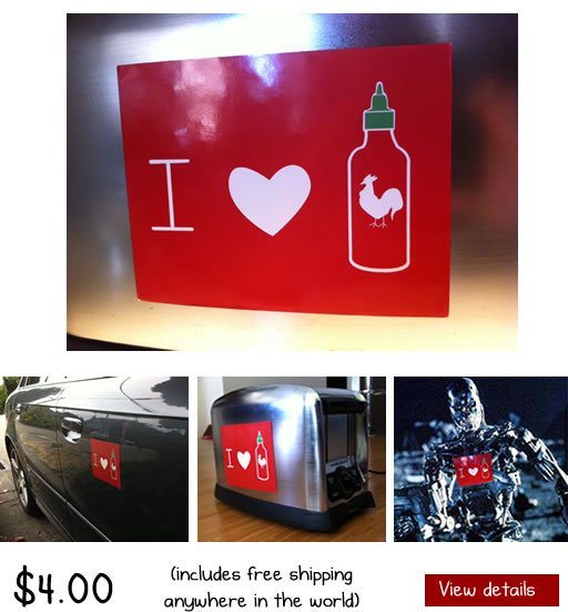 Sriracha Magnets