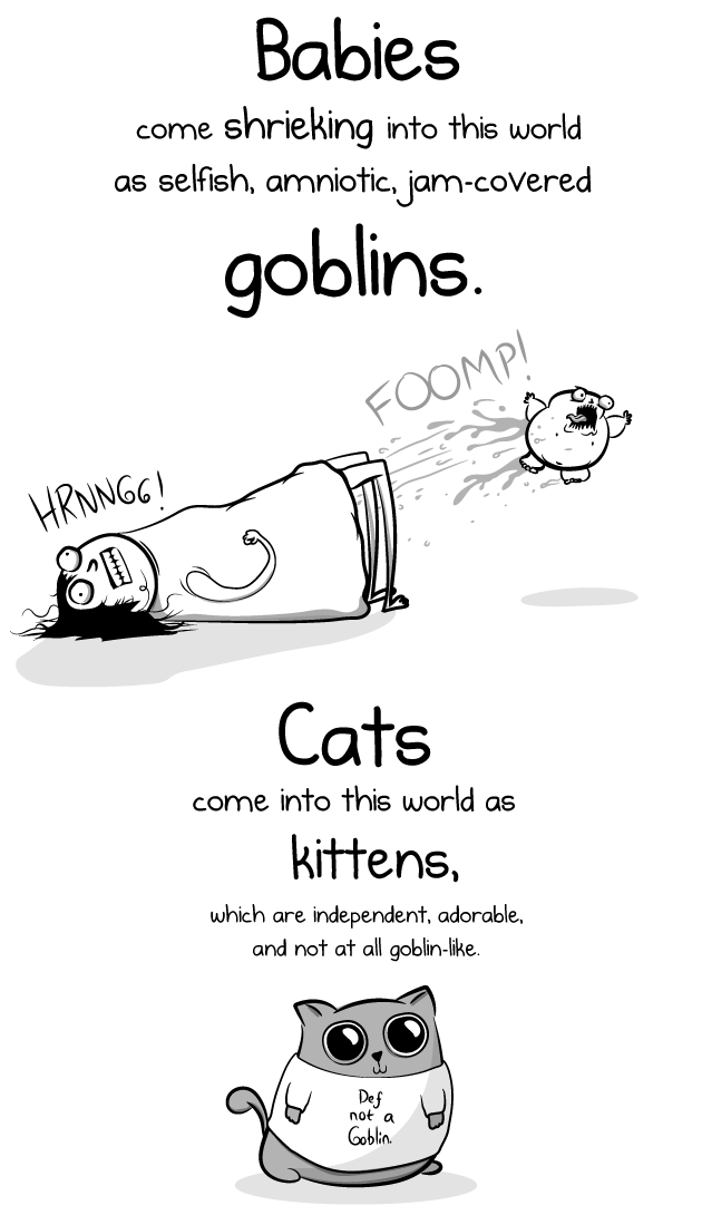 Having A Baby Vs Having A Cat The Oatmeal