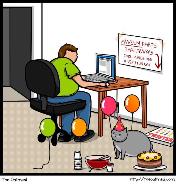 Cat Vs Internet The Oatmeal