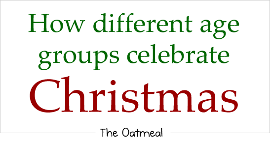 How different age groups celebrate Christmas