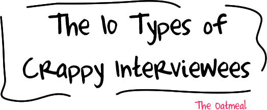 The 10 types of crappy interviewees
