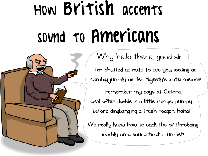 Do think What accent the americans of british