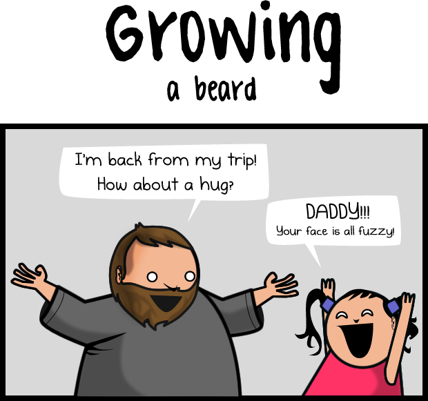 Growing a beard VS shaving a beard
