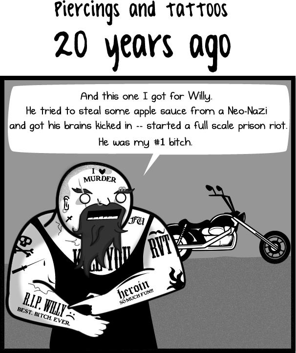 Tattoos 20 years ago VS tattoos now