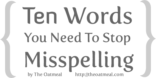10 words you need to stop misspelling