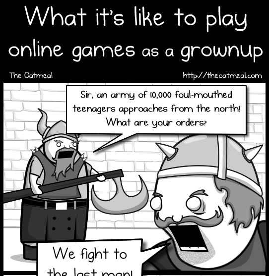 What it's like to play online games as a grownup