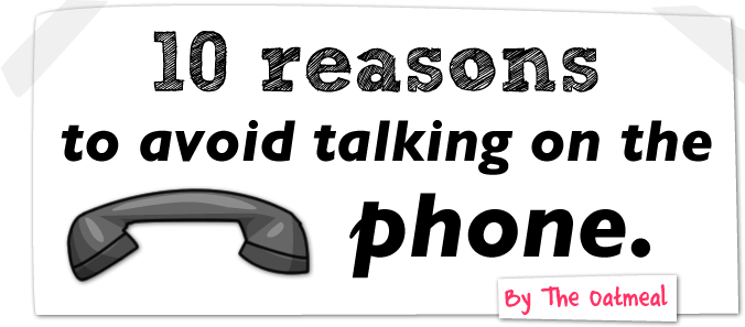 Why I avoid using the phone
