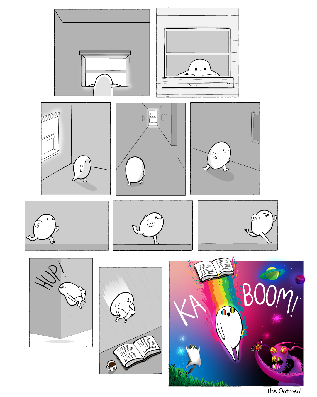 A comic about books
