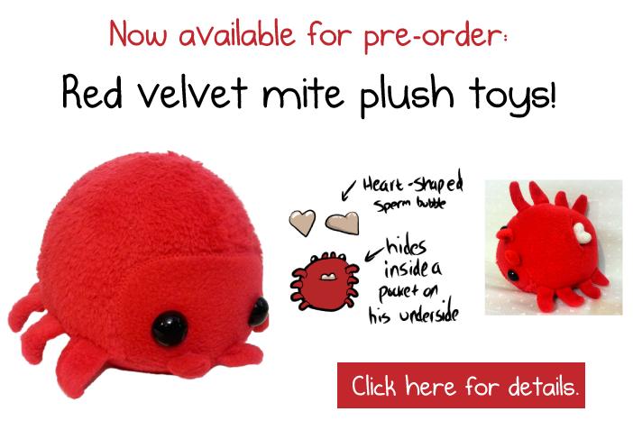 Red velvet mite plush toy